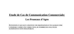 Corrigé étude de cas communication commerciale pruneaux d agen