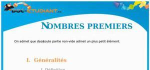 Nombres premiers : Cours Terminale S