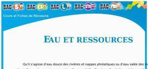 Eau - Eau et ressources : Cours Terminale S