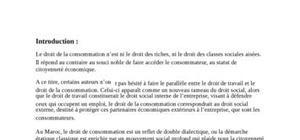 La protection du consommateur en droit marocain