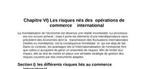 Risques nés du commerce international