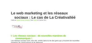 Le web marketing et les réseaux sociaux
