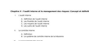 L'audit interne et le management des risques