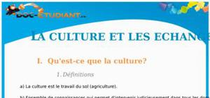La culture et les échanges : Cours Terminale ES - S