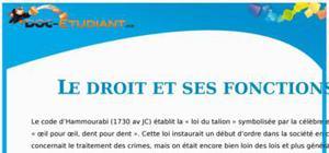 Le Droit et ses Fonctions : Cours Droit Première STG