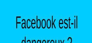 Un exposé sur facebook de 5 minutes