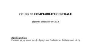 Cours sur les Fondamentaux de la Comptabilité Générale