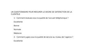 La satisfaction des clients