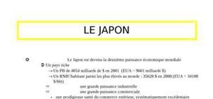 Le japon:une puissance asiatique