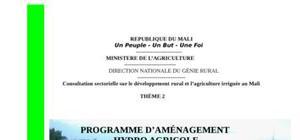 Programme d'amÉnagement hydro agricole au mali