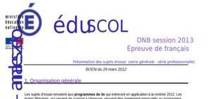 Sujet 0 Brevet Français 2013 : Explications
