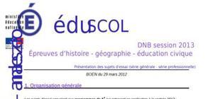 Sujet 0 Brevet Histoire - Géographie - Education civique 2013 : Explications