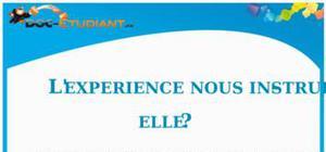 Dissertation : L'expérience nous instruit-elle ?