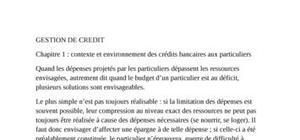 Contexte et environnement des credits bancaires aux particuliers