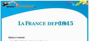 La France depuis 1945 : Fiche de Révision Brevet