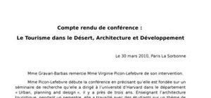 Le tourisme dans le désert, architecture et développement