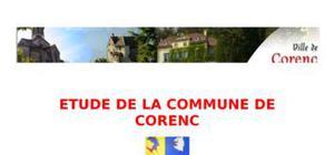 Etude de la commune de corenc