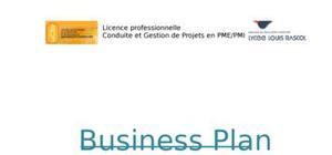 Modèle d'un business plan