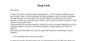 Droit civil introduction