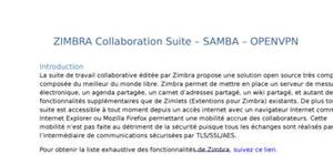 Zimbra collaboration suite – samba – openvpn