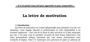 Lettre De Motivation Manuscrite Modele A Telecharger Gratuitement