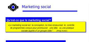 La trousse speciale marketing social