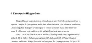 Management strategieque chez haagen-dazs