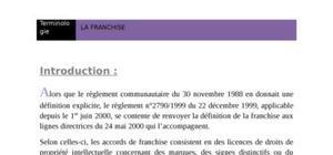 La franshise et franshiseur