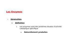Les enzymes exposé corrigé