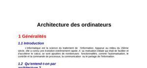 Architecture des ordinateur part 1