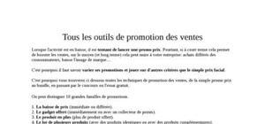 Les outils de la promotion des ventes
