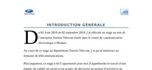 Introduction Rapport De Stage Exemple Introduction