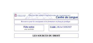 Les sources du droit international