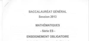 Sujet Maths Washington 2013 : Bac ES - L