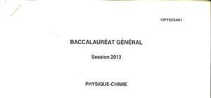 Sujet Physique Chimie Spécialité Washington 2013 : Bac S