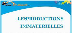 Les Productions Immatérielles : Cours de Droit BTS