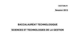 Sujet Economie-Droit Bac STG 2013