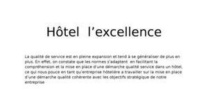 La démarche qualité pour un hôtel