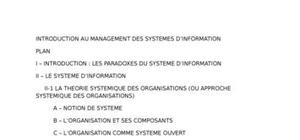 Introduction au management des systemes d'information