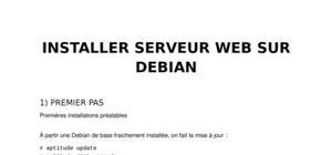 Installer serveur web sur debian
