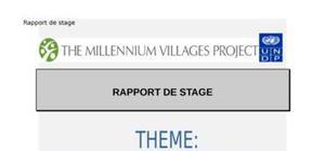Rapport de stage departement agricole