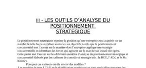 Positionnement strategie