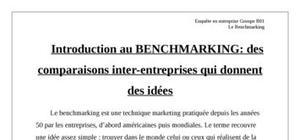 cours de benchmarking