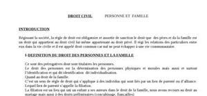 Droit des personnes et familles