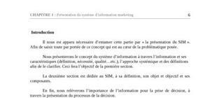 Présentation du système d'information marketing