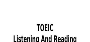 TOEIC Part 2 : Question Response