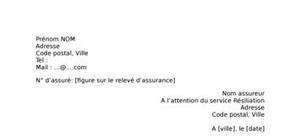 Lettre de résiliation assurance mobile