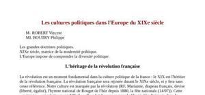 L'héritage de la révolution française