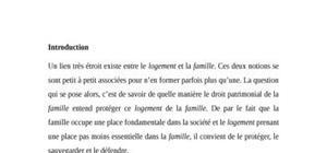 La protection du logement de famille en droit civil