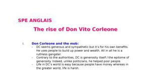 The rise of don vito corleone